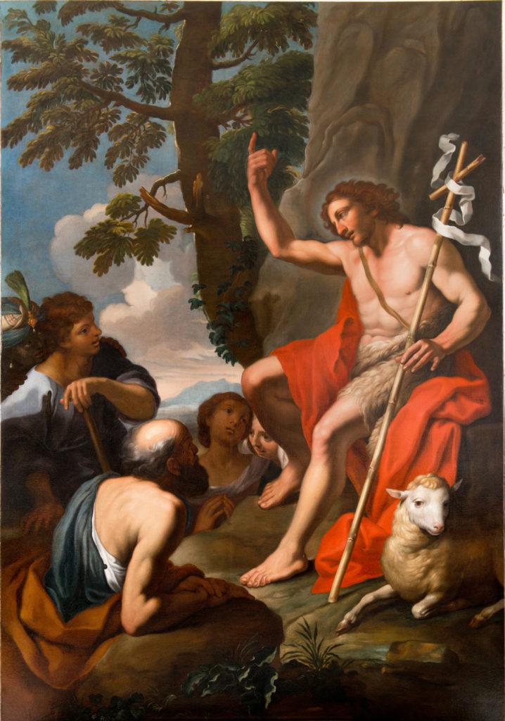 Kazanie św. Jana Chrzciciela, mal. Jan Reisner, ok. 1695, Kościół Wizytek w Krakowie, fot. A. Indyk