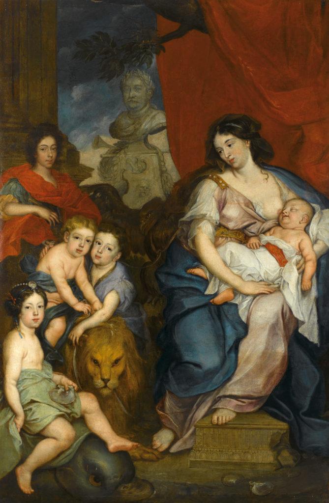 Portret Marii Kazimiery z dziećmi, mal. Jerzy Eleuter Szymonowicz-Siemiginowski, ok. 1684, Muzeum Pałacu Króla Jana III w Wilanowie, fot. W. Holnicki